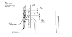 023-09-32 Truth Hardware Die Cast Non Handed Casement Locking Handle Diagram
