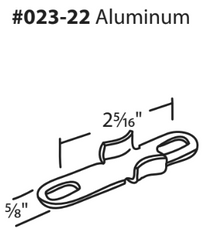023-22 WRS Stainless Steel Casement Keeper Diagram