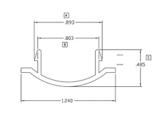 025-14 Diagram of WRS Black Plastic Sash Stop
