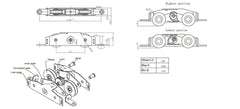 "028-120-1 WRS 1-1/4"" Side Adjust Tandem Patio Door Roller - Replacement for Truth Hardware 31761A Tandem Roller Diagram"