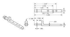 02-886 Diagram of WRS Die Cast Simonton Pivot Bar