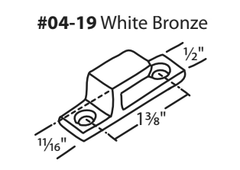 04-19 WRS White Bronze Projection Handle Hook Keeper Diagram