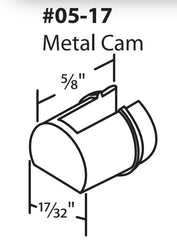 "05-17 WRS Die Cast Locking Cam 5/8"" x 17/32"" Diagram"