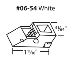 "06-54 WRS 1-11/16"" White Sash Cam Diagram"