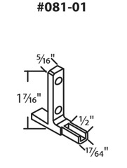 "081-01 Diagram of WRS 1-7/16"" Die Cast Zinc Pivot Bar"