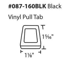Window Screen Pull Tab - Black Nylon