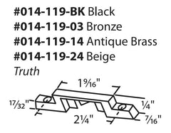 "014-119-24 Diagram Truth 2-1/4"" Keeper, Beige"