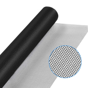 "WRS Charcoal Fiberglass Window Screen Mesh 48"" x 100' Roll"