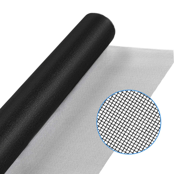 WRS Charcoal Fiberglass Window Screen Mesh 48