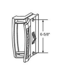 "N-109 Diagram of Norandex Mark 10 6-5/8"" Patio Door Handle"