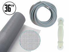 "All-in-One Screen Repair Kit - 36"" x 84"" Grey Fiberglass Replacement Screen Kit"