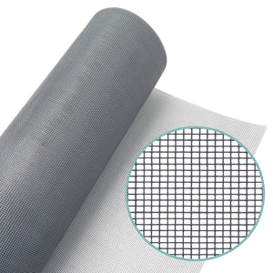 "WRS Grey Fiberglass Window Screen Mesh 48"" x 100' Roll"
