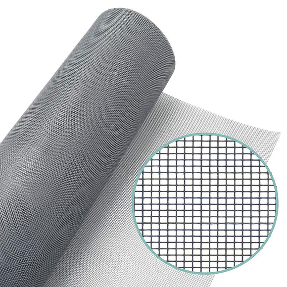 WRS Grey Fiberglass Window Screen Mesh 48