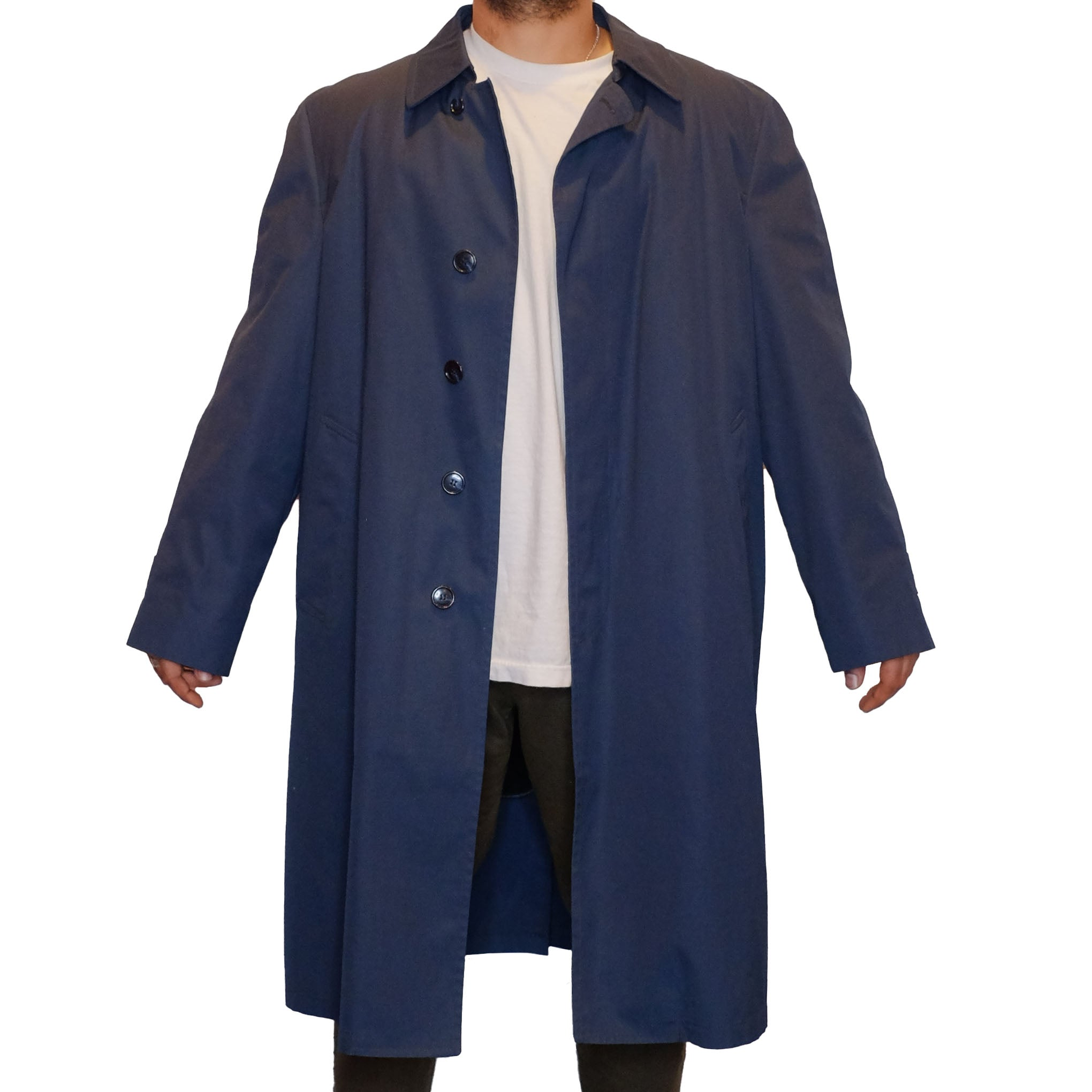 Dark Blue London Fog Coat