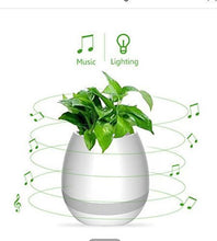 Load image into Gallery viewer, Plastic Musical Pot with Bluetooth Speakers, LED Lights and Touch Control Piano System (White)