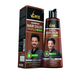 Vcare Hair Color Shampoo Black and Brown