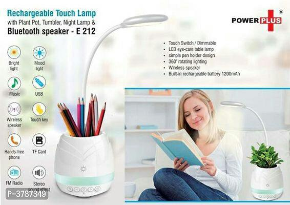 Rechargeable Touch Lamp with Bluetooth Speaker