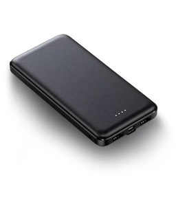 Black 10000 MAh Power Bank for Fastest Charging