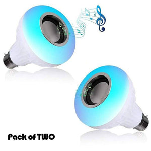 Pack of Two - Music Bulb With Bluetooth Speaker Light Bulb Colorful For SmartPhone