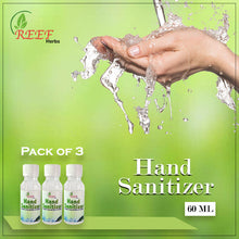 Load image into Gallery viewer, Reef Herb Hand Sanitizer Pack of 3 Bottles (60x60x60ML)