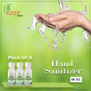 Reef Herb Hand Sanitizer Pack of 3 Bottles (60x60x60ML)