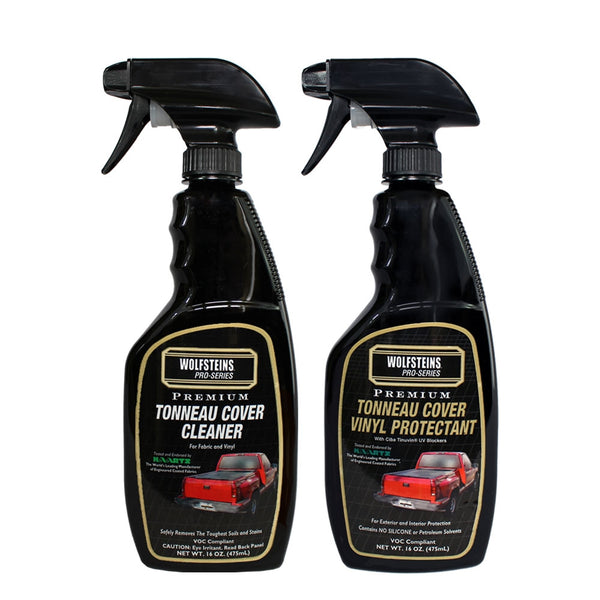 WOLFSTEINS Pro-Series Vinyl Tonneau Cover Cleaner & Protectant Kit