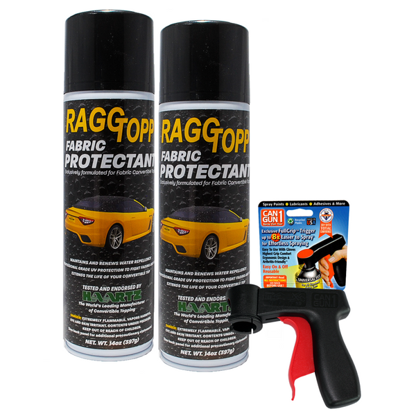 WINTER SPECIAL: RAGGTOPP Convertible Top Fabric Protectant 2-Pack with CanGun 1