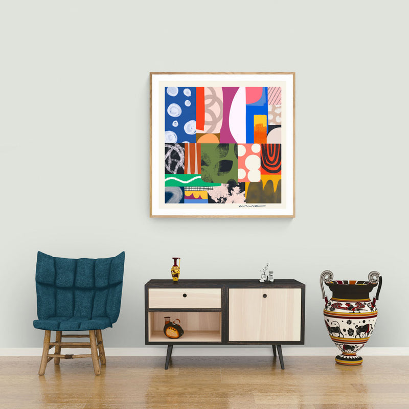 New Modern Collage Art Print