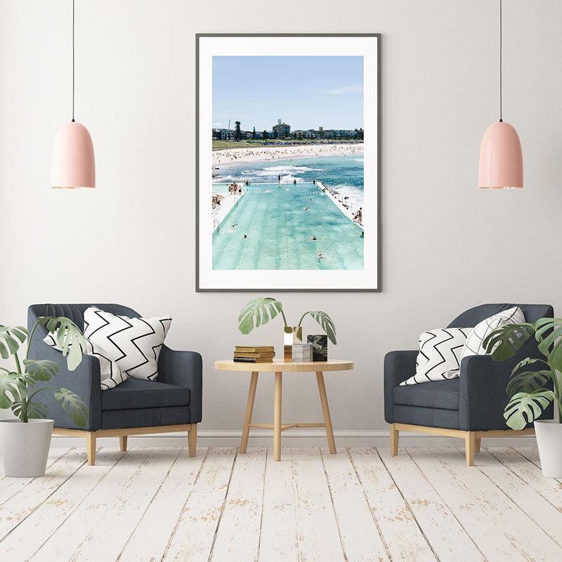 Bondi Icebergs Summer Day Art Print