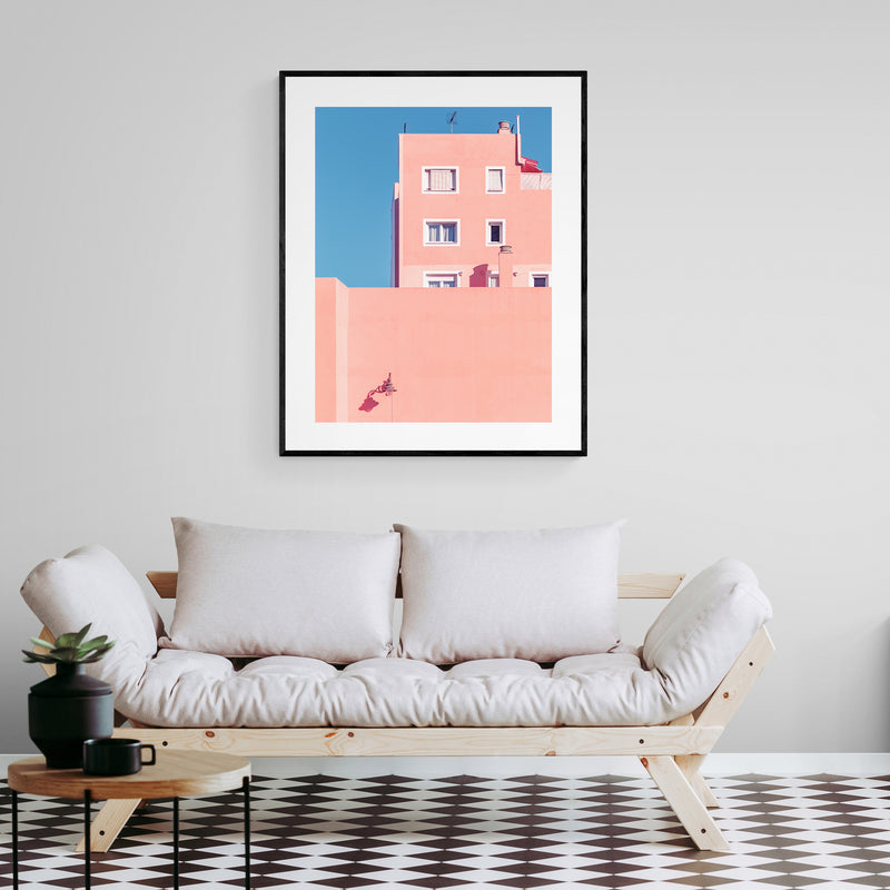 Sunny House and Blue Sky Art Print