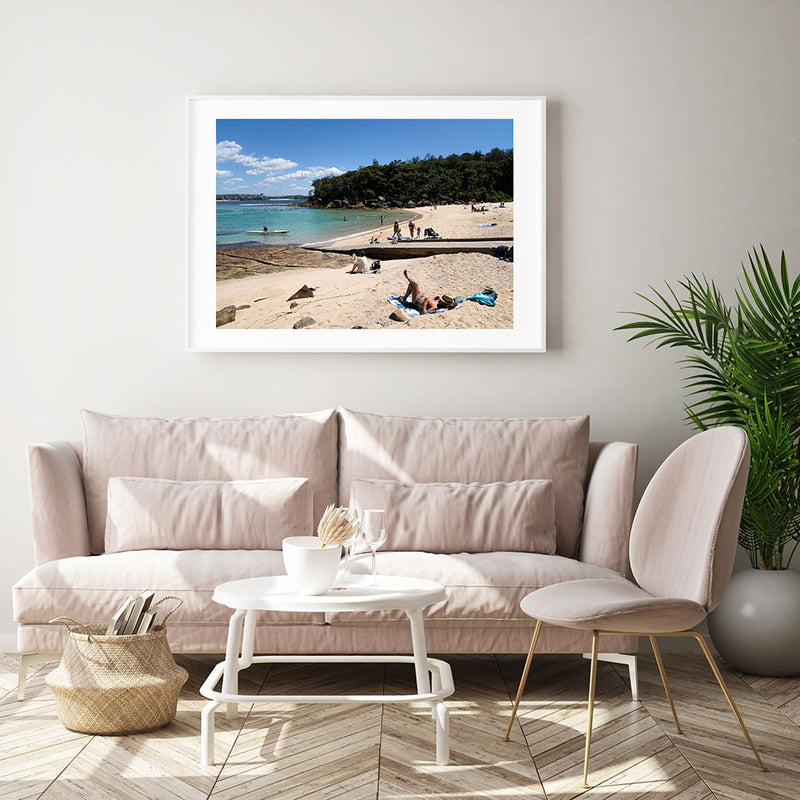 Chilling at Shelly Beach Art Print