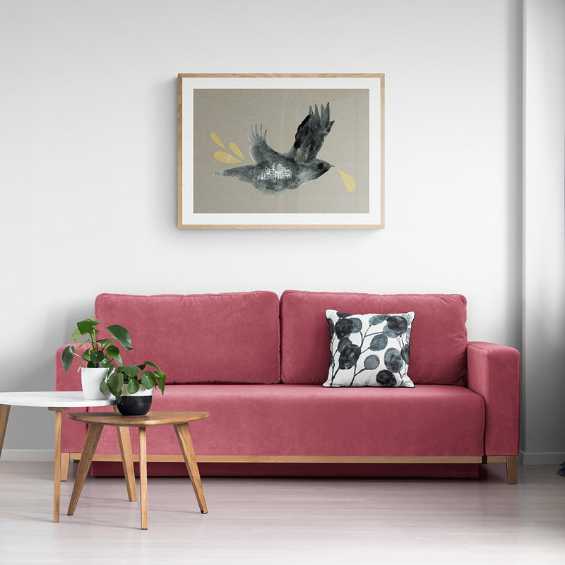 Collage Crows Art Print