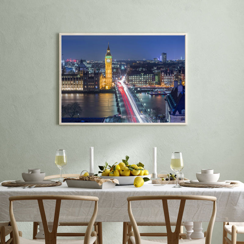 Westminster By Night Art Print
