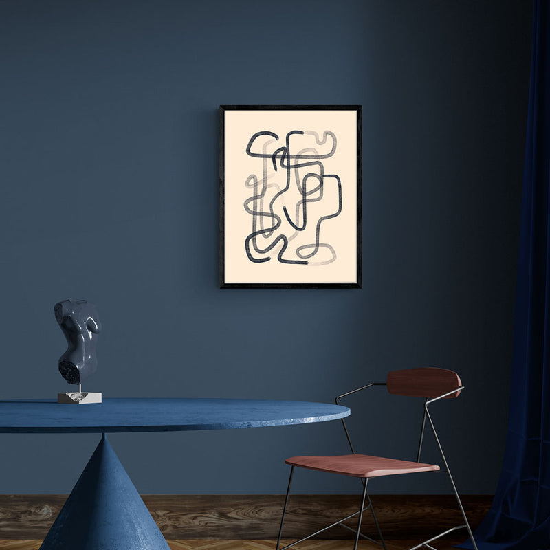 Chalky Line Abstract Art Print