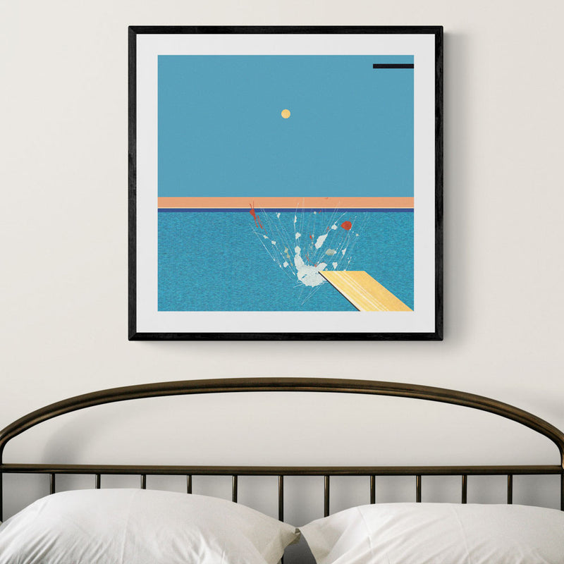 Diving into Hockney Art Print
