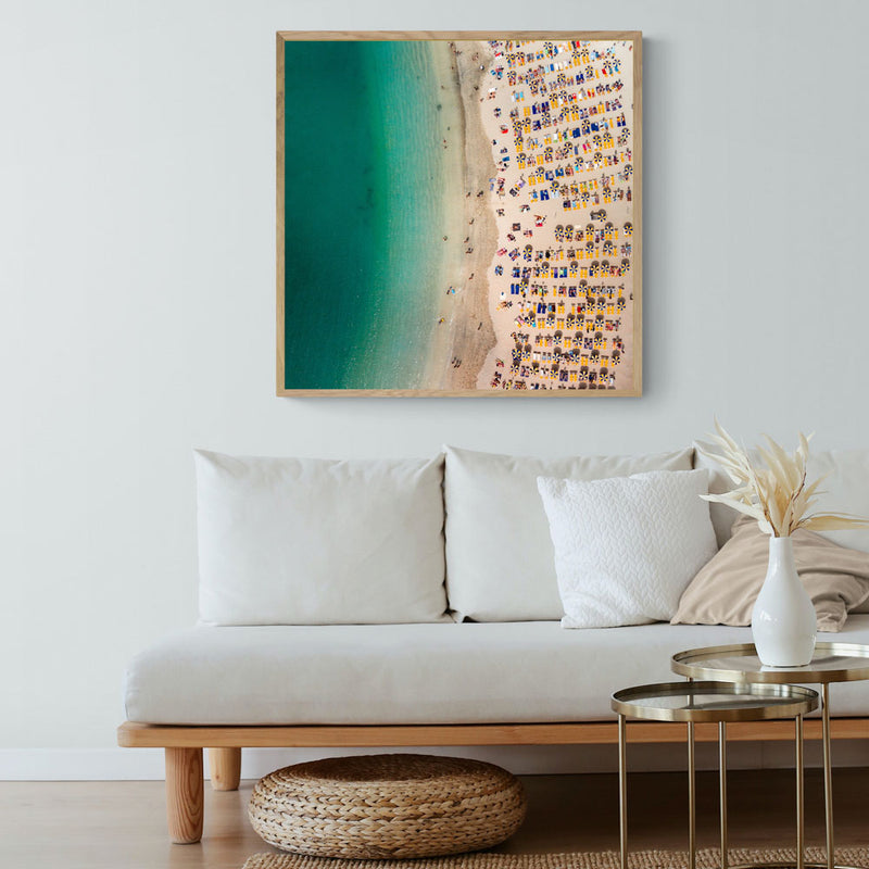 European Beach Time Art Print
