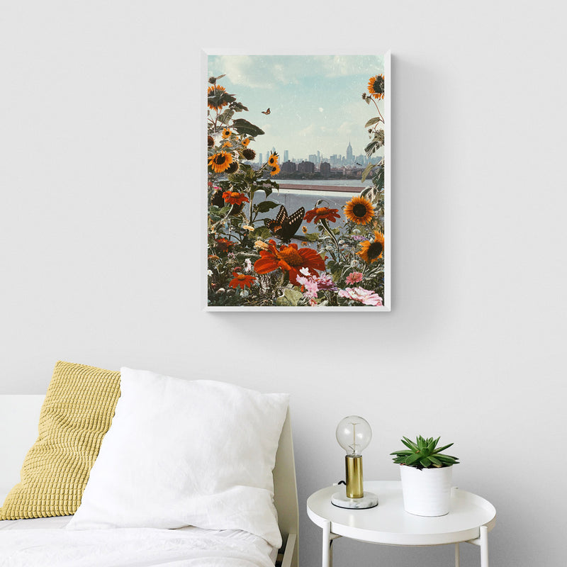 NY in Flowers Art Print