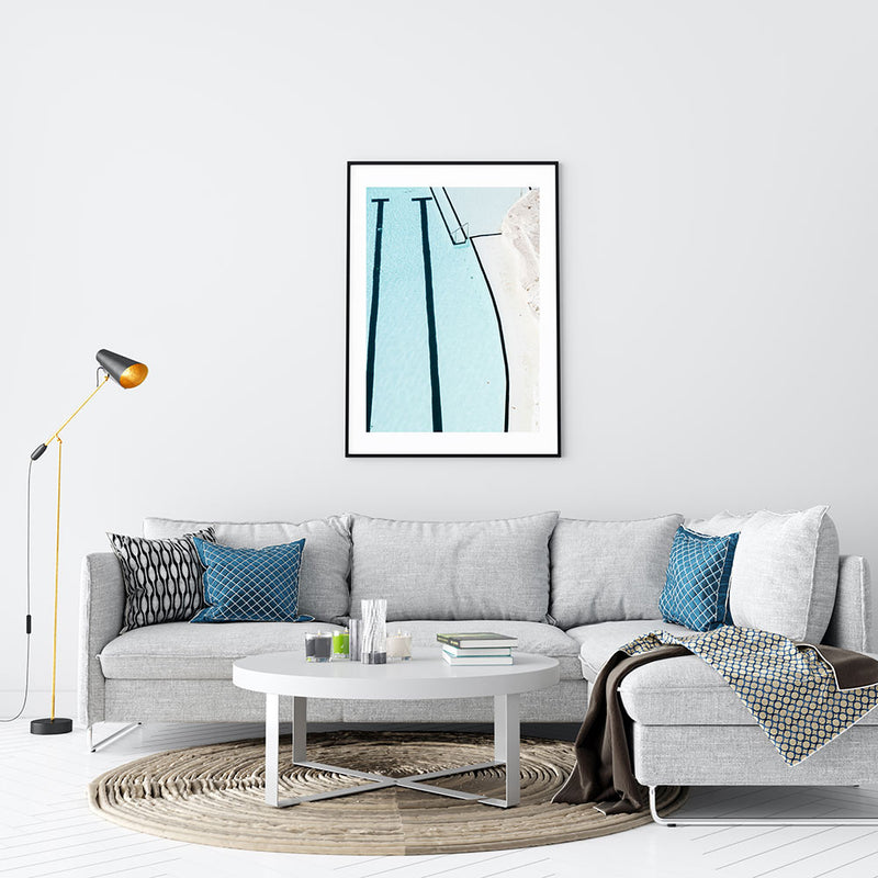 Icebergs Abstract Art Print