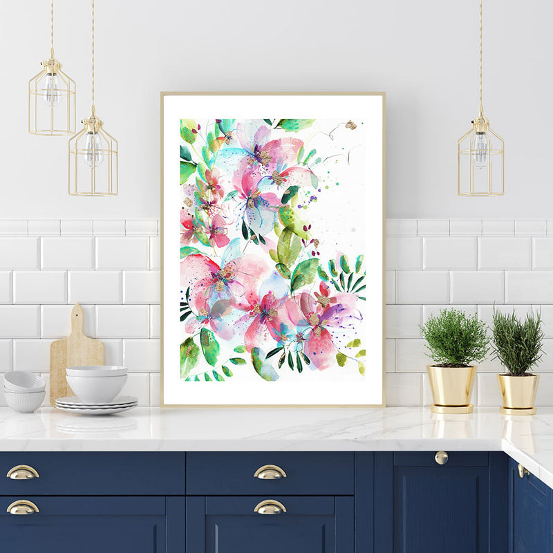 Jumping Bush Art Print