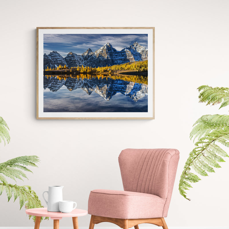 Valley of Reflection Art Print