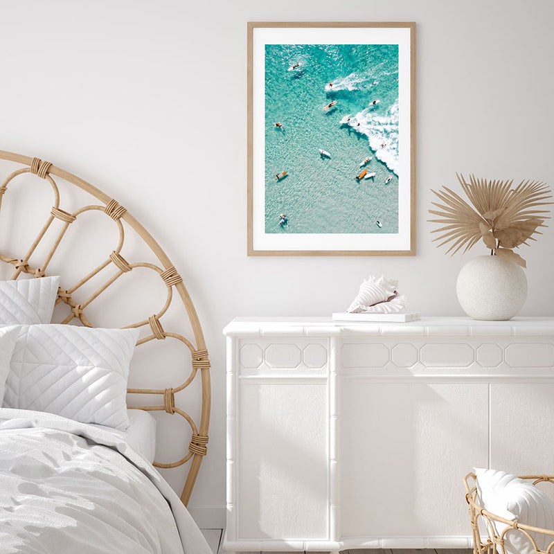 Party Wave at The Pass Byron Art Print