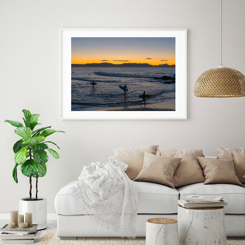 Byron Bay End of Session Art Print