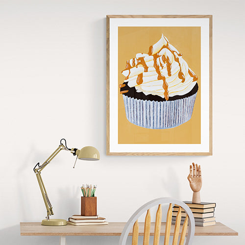 Mrs Newburyport's Sticky Toffee Cupcake With Salted Caramel Buttercream Art Print