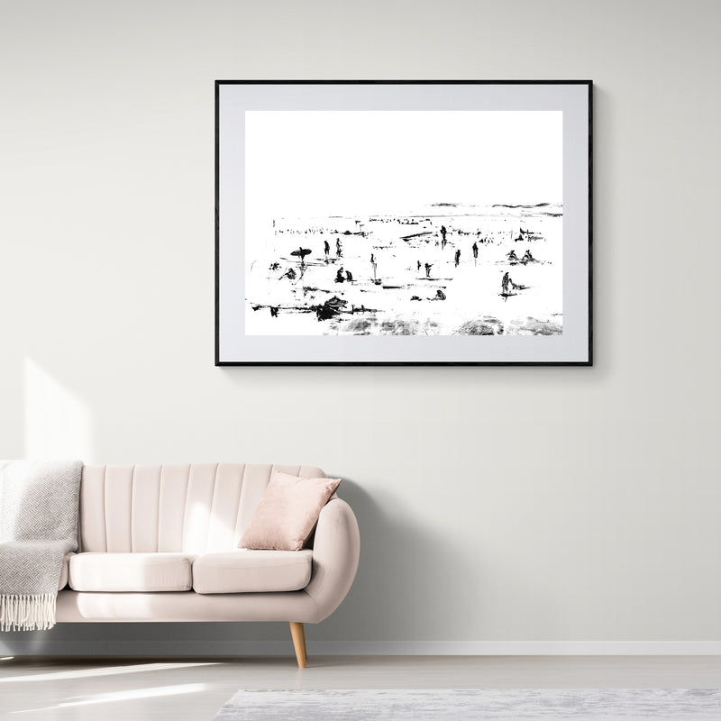 Beach People Art Print