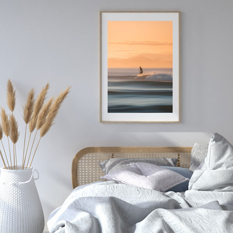 Byron Bay Surfer I Art Print