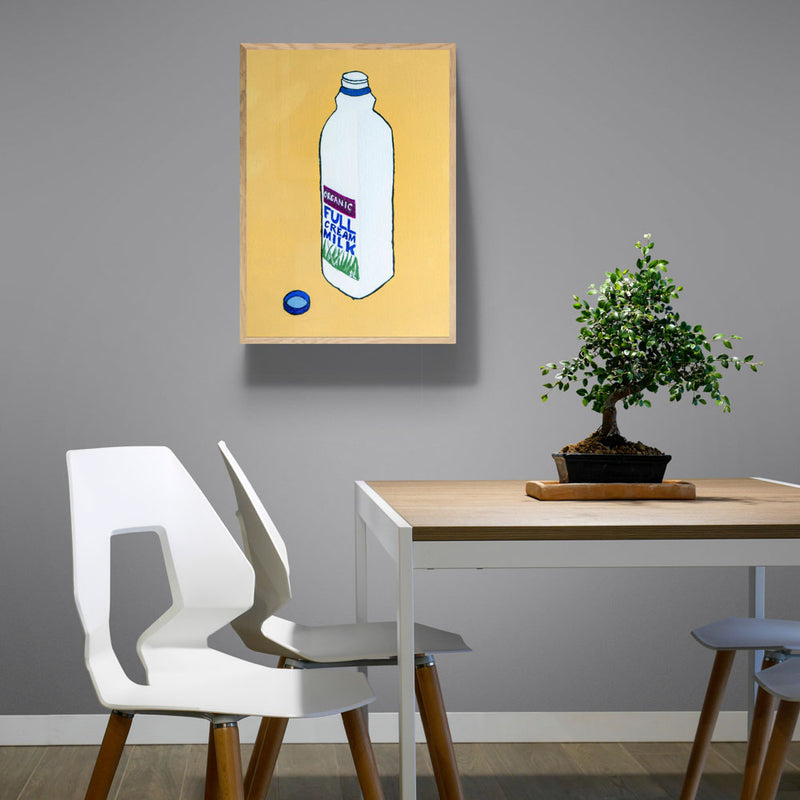 Full-Cream Organic Milk Art Print
