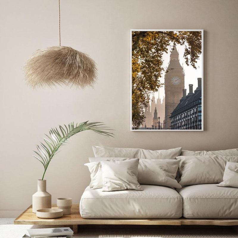 Hazy Big Ben Art Print