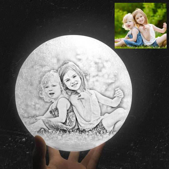Custom Moon Lamp with Photo Custom 3D Engraved Moon Light 16 Colors