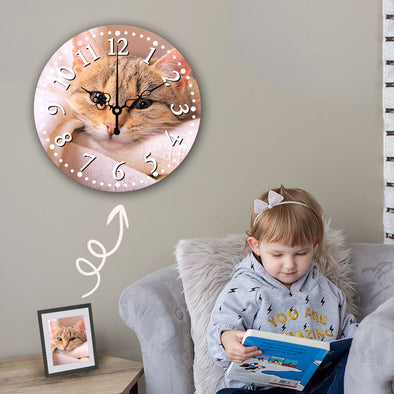 Custom Photo Clock Wall Clock Mother's Day Gift