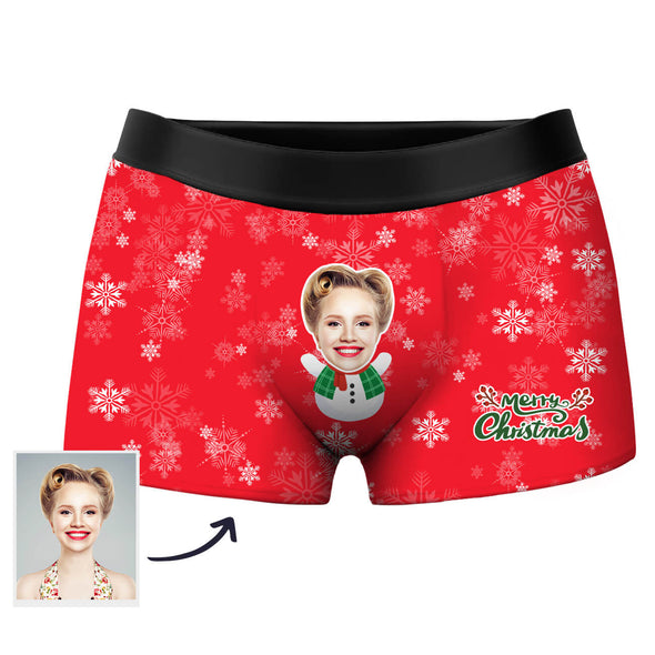 Custom Photo Boxer Shorts for Christmas